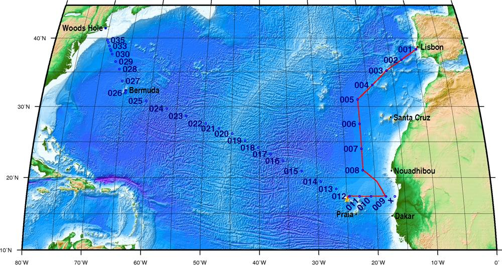 Project US GEOTRACES North Atlantic Transect BCODMO - Atlantic ocean on us map